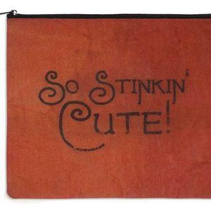 "Large Makeup Bag 11""x9"" So Stinkin Cute Clutch"